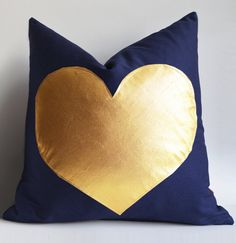 Sukan / Navy and Gold Pillows  white and gold pillow  by sukanart, $35.60