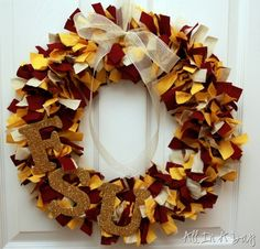 Great for football season! Although we'd have to have a House Divided wreath :) My half FSU, his half Gators...could be super cute!!