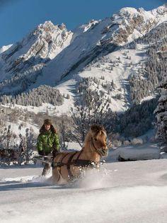 Ski Joëring à La Clusaz