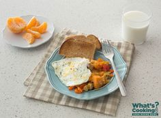 Sweet Potato Hash with Egg #veggies #fruit #MyPlate #WhatsCooking