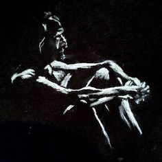 Sharon O'Callaghan, charcoal sketch of man Life Drawing, Drawing Sketches, Drawings, Charcoal Sketch, Contemporary Art, Darth Vader, Instagram Posts, Artist, Fictional Characters