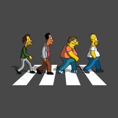 Check out this awesome 'The+Moes+on+Abbey+Road' design on @TeePublic!