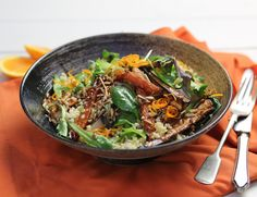 Bulgar Wheat Pilaf with Honeyed Winter Roots Recipe | Abel & Cole
