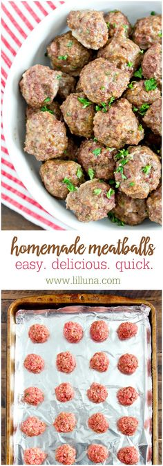 Easy & Delicious Homemade Meatballs recipe - Way better than store bought and easy too!