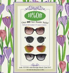 A sunglass reader special at Debspecs! This week save 10% off any reader in  our reading sunglass section. Bifocal e5076271b