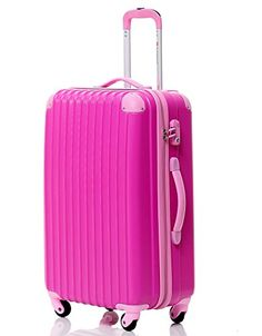 Hard Shell 4 Wheel Spinner Suitcase ABS Luggage Trolley Case Cabin ...