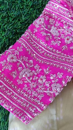 Hand Work Blouse Design, Simple Blouse Designs, Fancy Blouse Designs, Bridal Blouse Designs, Lehenga Choli, Sarees, Hand Embroidery Design Patterns, Bridal Lehenga Collection, Lahenga