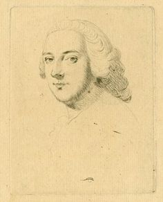 Portrait of William Pitt, first Earl of Chatham, head and shoulders to left, looking towards the viewer, smiling; wearing long wig, neckerchief with frill. Drypoint Producer name Print made by: Anonymous. Britishmuseum.org
