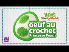How To Make A Crochet Yarn Yoshi Egg With Princess Peach! | Girls on Games