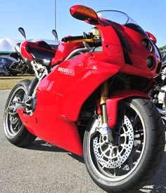 Ducati 999s --my bike.  It might not be the prettiest girl in the room, but it has personality.
