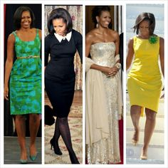 I really look up to Michelle Obama's style. Not just because she's our first lady but, she's the epitome of class.