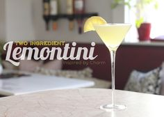"Two Ingredient - Lemontini - think'n ""cosmo"" more holiday friendly buttttt. . . this looks ahhh so good!"