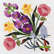 Baltimore Spring Quilt Pattern, Block 8 Garden Bouquet,  Pearl Pereira Applique