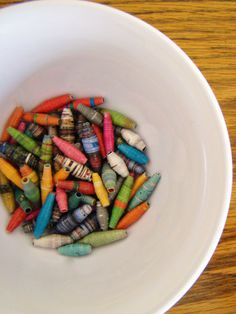 How to make paper beads for jewelry and other projects.