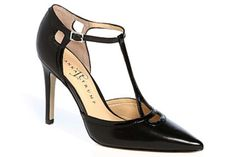 t strap pointed toe pump | Ivanka Trump Ginger T-Strap Leather Pupms