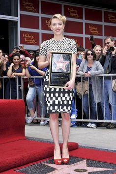Scarlett Johansson gets her Star on Hollywood Walk of Fame