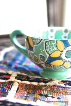 Blue Lamp and Teal Teacup/