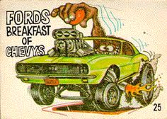 "My favorite ""Odd Rods"" trading card from back in 1969.  The artist was B.K. Taylor in a style emulating Ed Big Daddy Roth."
