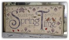 "cross stitch chart ""Spring Time"" by New York Dreamer"