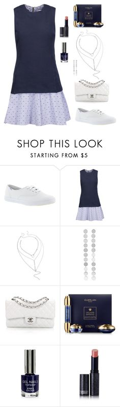 """""""Get Fresh: White Sneakers"""" by alara-cary on Polyvore featuring Keds, 10 Crosby Derek Lam, Saskia Diez, Chanel, Guerlain, Topshop, Lipstick Queen and whitesneakers"""