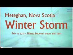 Meteghan, Nova Scotia - Winter Blizzard Feb 15 2015. Time: Noon. - YouTube