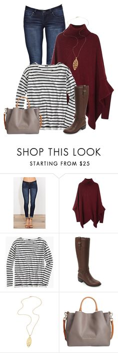 """Untitled #38"" by newdesigner-869 ❤ liked on Polyvore featuring YMI, J.Crew, Cole Haan, Daniela Swaebe and Dooney & Bourke"