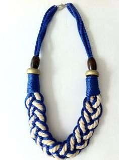 ISABEL Oversized Knotted Rope Necklace