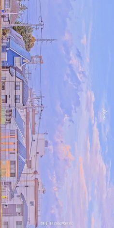 Anime Backgrounds Wallpapers, Anime Scenery Wallpaper, Landscape Wallpaper, Cute Wallpapers, Cute Pastel Wallpaper, Cute Patterns Wallpaper, Kawaii Wallpaper, Aesthetic Japan, Sky Aesthetic