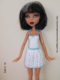 Ropa para muñecos - Ropa Monster High: v63 - hecho a mano por mamimonster en DaWanda