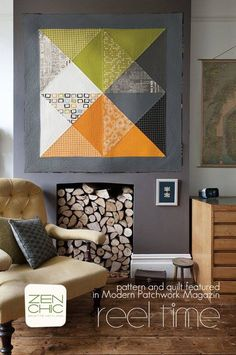 41 Ideas for patchwork quilt ideas design wall hangings Mini Quilts, Big Block Quilts, Small Quilts, Quilt Blocks, Patch Quilt, Modern Quilt Patterns, Patchwork Patterns, Quilting Patterns, Quilting Ideas