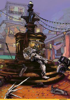 Blizzard,Blizzard Entertainment,фэндомы,Reaper (Overwatch),Overwatch,McCree,Mercy (Overwatch),Soldier 76,Reinhardt,Genji (Overwatch),Tracer