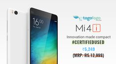 Innovation Made Compact! Get # CertifiedUsed Version of #Xiaomi Mi 4i 16 GB at just Rs.5,249. Shop Here: https://bit.ly/2LZXlD3 #Togofogo