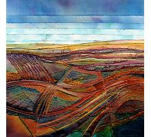 Landscape-inspired textile art using hand-dyed fabric, stitching and mixed media – Art Fibres Textiles, Textile Fiber Art, Textile Artists, Fiber Art Quilts, Mode Vintage Illustration, Map Quilt, Quilt Art, Landscape Art Quilts, Landscape Design