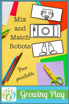 Kids can practice scissor skills, sequencing, and creativity with this mix and match robots printable to help children to grow and play. Kids Educational Crafts, Educational Websites, Abc Crafts, Science Crafts, Science Fun, Free Preschool, Preschool Printables, Preschool Themes, Free Printables