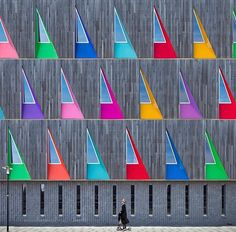 A colorful façade in Netherlands