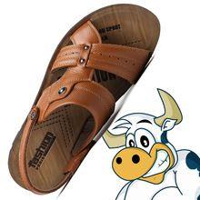 100% Hombres zapatos de Cuero Genuino Negro de Los Hombres Sandalias de Playa Sandalias de Verano Zapatos de Marca de Moda de Cuero Sandalias de Los Hombres(China (Mainland))