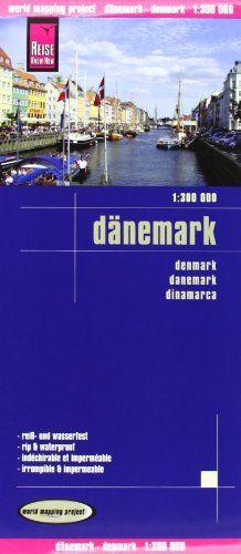 Dinamarca, mapa de carreteras impermeable. Escala 1:300.000. Reise Know-How.