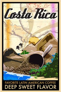 Costa Rica Coffee Poster | On Air Design - Graphic Design and Printing for TV and FIlm