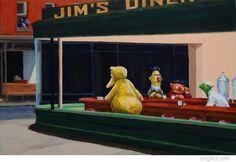 "Love Sesame Street! Parody of ""Nighthawks"""