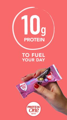 Fill up the right way with Protein One, the solution to all your snack emergencies. 90 calories, 10 grams of protein, 1 gram of sugar. Those are the numbers that will save the day -- wherever a craving hits.