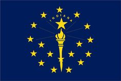 Flags of the Fifty States - Indiana