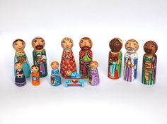 It's the nativity set featuring the Holy Family with two little angels, the Three Kings and the shepherd family. The figurines were hand painted with the non-toxic acrylic paints and varnished using t                                                                                                                                                                                 More