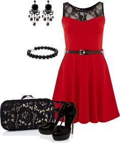 """Red Dress"" by missteacherlady on Polyvore"