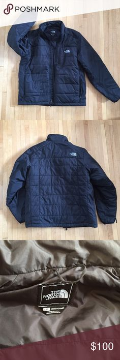 Men's The North Face winter jacket puffer black Size large only worn a handful of times so it's in excellent condition. Hubby has freakishly long arms and that's why he doesn't wear it. Three zipper pockets 👌🏻 North Face Jackets & Coats Puffers