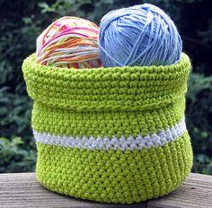 Handmade Crochet Basket Bowl  Lime Green by HandmadeByAnnabelle, $24.00 #crochet #etsy #castteam