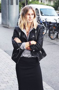 53 Best How to style a leather jacket and slay images