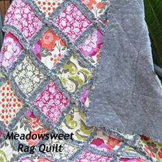 Mia Dolce Originals: Finished Quilts  Minky rag quilt- I can totally do this