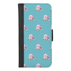iPhone 8/7 wallet case #walletcase #iphonewalletcase #iphone7case #iphone8case #cyan Bunch of three beautiful light pink roses.  Close up photography. Floral pattern. You can choose a color of background. Gentle girly style. The best gift with love! customized, personalized, POD, buy, sale, gift ideas, zazzle, discount, gifts, shopping, most popular, trendy, cool, unique, stylish, gorgeous, photo, flowers, tenderness, bouquet, garden, nature, floral, custom, pretty, girly, feminine, ЦВЕТ…