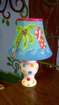 Hand painted lamp. www.facebook.com/lotzadotzbynatalie