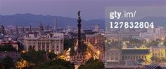 Search - Getty Images : barcelona, No People, Monument a Colom (Christopher Columbus Monument), and Skyline at dusk